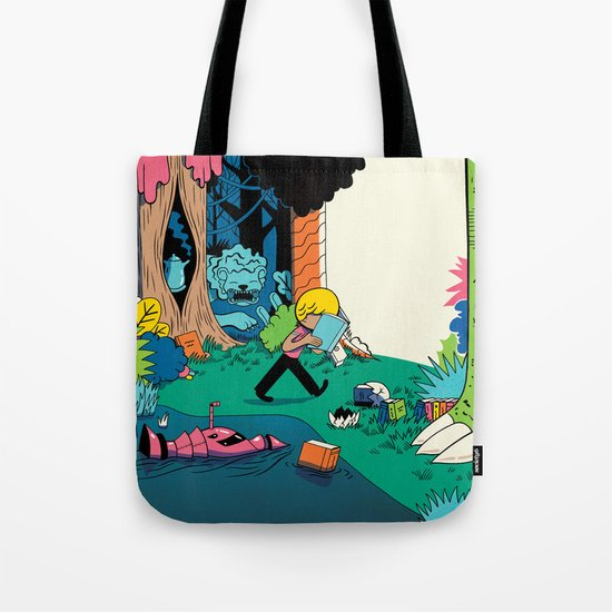 Getting into a Good Book Tote Bag by Ryan Snook | Society6