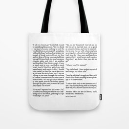 Jane Eyre Book Page Chapter Tote Bag