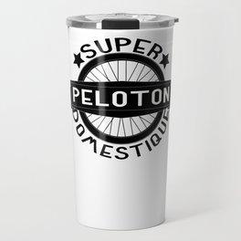 Peloton Super Domestique Retro Bike Bicycling Travel Mug