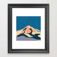 Over The Sunset Mountains Framed Art Print