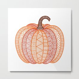Patterned Pumpkin Metal Print