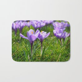 Purple Crocuses Bath Mat