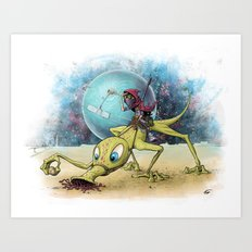 Space scout Art Print