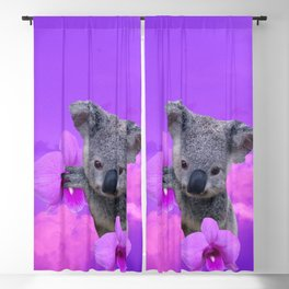 Koala and Orchid Blackout Curtain