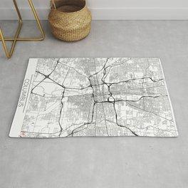Columbus Map White Rug