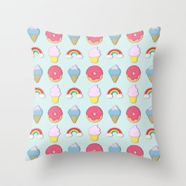 Happy Candyland Throw Pillow