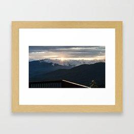 Sunrise In North Georgia Mountains 5 Framed Art Print