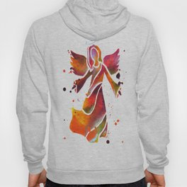 Colorful Angel Acrylic Abstract Painting by Saribelle Rodriguez Hoody