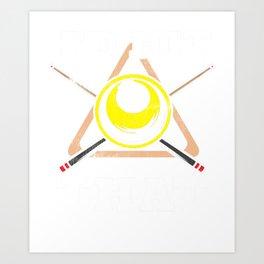 Vintage Billiards I'd Hit That Pool Cue Pool Ball Art Print