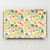 scandinavian iPad Cases featuring Scandinavian summer by Olly Dolly Design
