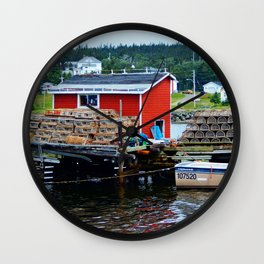 Fisherman's Shack Wall Clock
