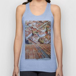 Florence Watercolor Painting Unisex Tank Top