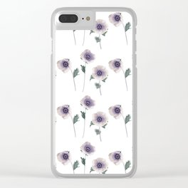 Hellebore . The floral pattern . Clear iPhone Case