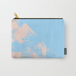 Paint Swipes Blue Raspberry and Sweet Peach Pink Carry-All Pouch