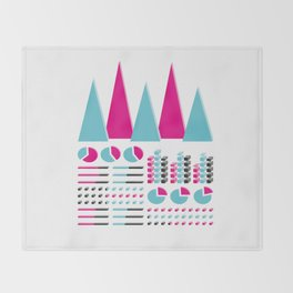 Infographic Selection Throw Blanket