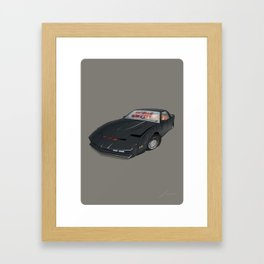 80´s tv and films cars (knight rider) Framed Art Print