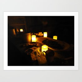 Kitchen by Candlelight Art Print