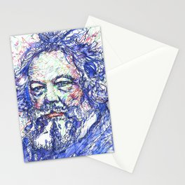 MIKHAIL BAKUNIN watercolor and ink portrait Stationery Cards
