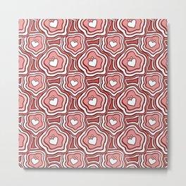 'I Love You Umlaut' Valentine's Pattern - Pretty in Pink Metal Print