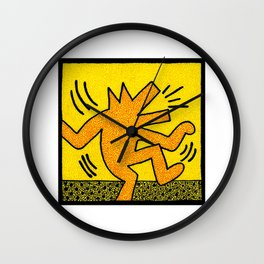 Keith Haring Dancing Dog Wall Clock