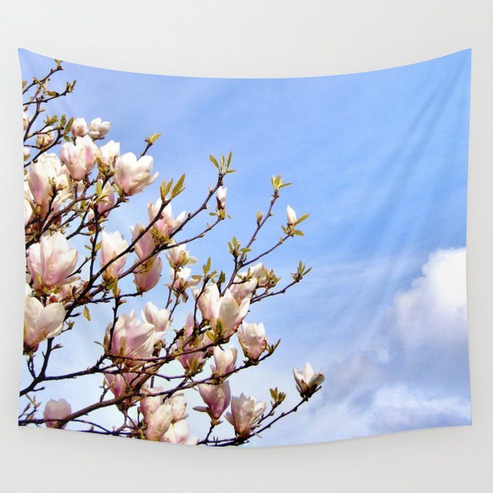 Magnolia In The Sky Wall Tapestry