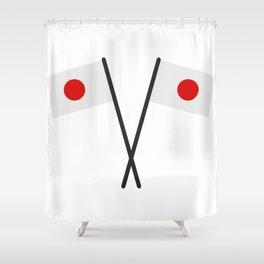 japan flag Shower Curtain