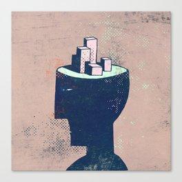 cityhead Canvas Print