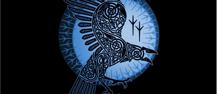 Viking Raven of Death - Blue Coffee Mug