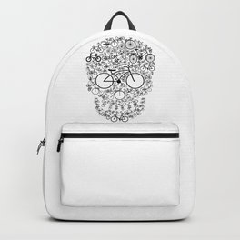 Bicycle Skull Backpack