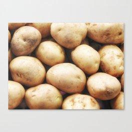 potato texture Canvas Print