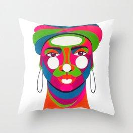 Palenquera es color Throw Pillow