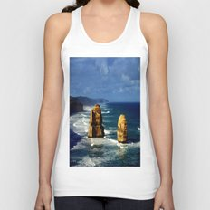 Limestone Rock Stacks & Headlands Unisex Tank Top