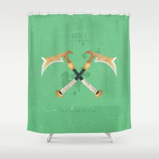 League of Legends: Akali Shower Curtain