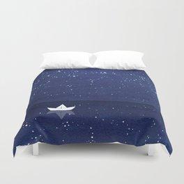 Zen sailing, ocean, stars Duvet Cover