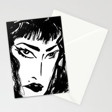 M with bangs Stationery Cards