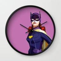 batgirl Wall Clocks featuring Batgirl by Rabassa