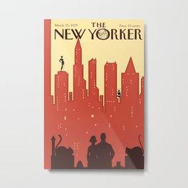 Synergistic Superheroes, New Yorkers 1925 Metal Print