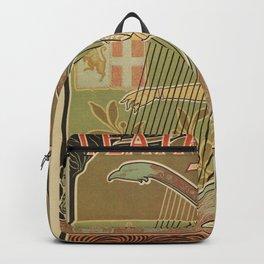 Art nouveau Royal Opera House Turin Torino Backpack