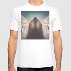 Waterfall MEDIUM White Mens Fitted Tee