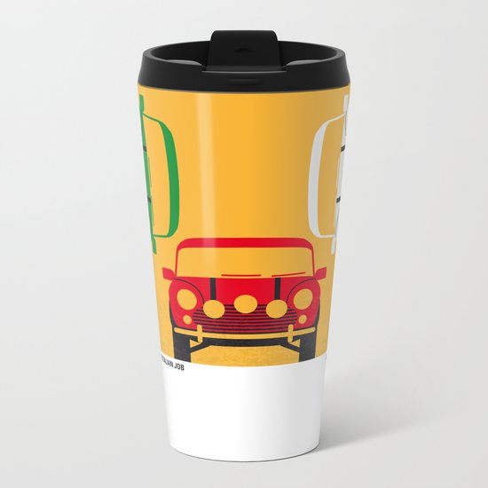No279 My The Italian Job minimal movie poster Metal Travel Mug