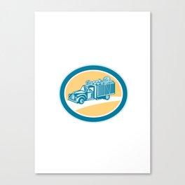 Vintage Pickup Truck Delivery Harvest Retro Canvas Print