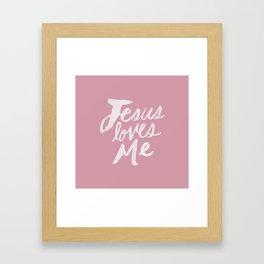 Jesus Loves Me x Rose Framed Art Print