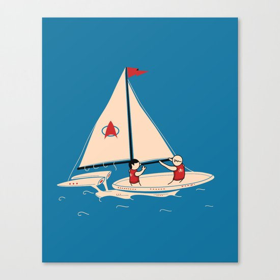 Sailing Towards Future Unknowns Canvas Print