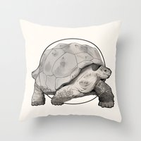 tortoise Throw Pillows featuring Tortoise by Twentyfive