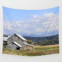 vermont Wall Tapestries featuring Vermont Barn by Ashley Callan