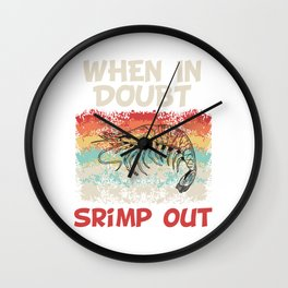 Martial Arts Taekwondo Fighter Design T-shirt Punch Kick When In Doubt Shrimp Out Karate JiuJitsu Wall Clock