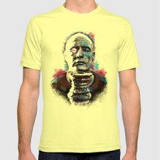 Marlon Brando under brushes effects X-LARGE Mens Fitted Tee Lemon
