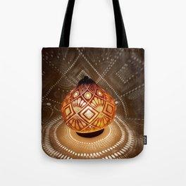 Batik pattern of the sun and rice field Tote Bag