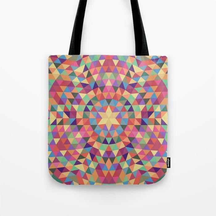Happy triangle mandala Tote Bag