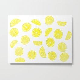 Lemon Slices Metal Print